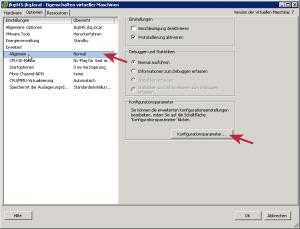 Erweiterte Konfigurationsparameter in der VM HW-Version 7