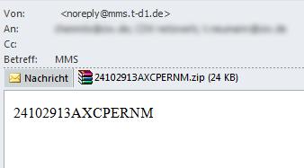 MMS Spam Beispiel